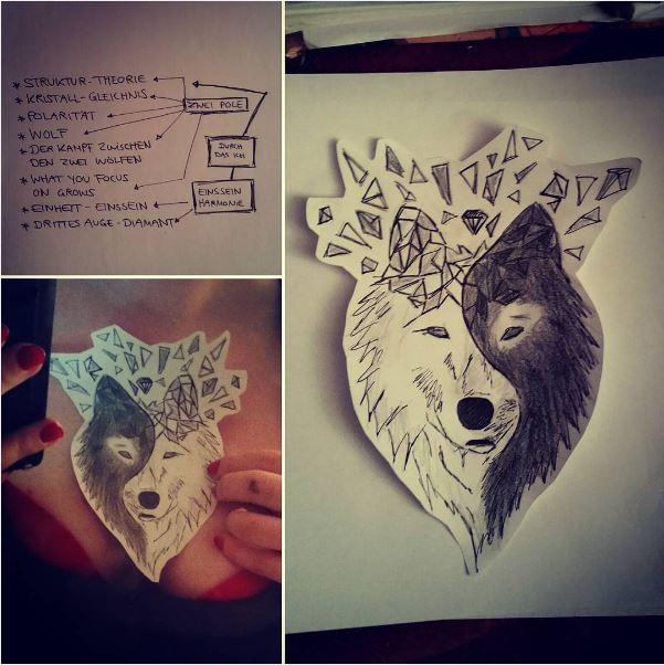 Wolf - Yin Yang - Polarität - Strukturtheorie - Diamant - Einheit - Liebe